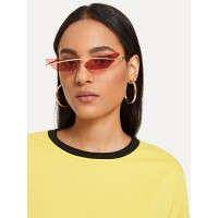 Rimless Cat Eye Sunglasses QMWWTKX