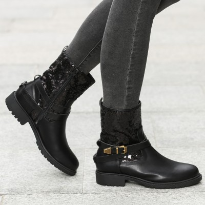 Boots with Sequins Panel XDZIJXH
