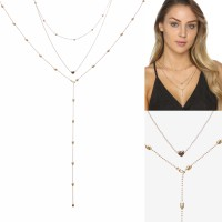 2-Piece Multi-Layered Necklace with Heart XCSZFSM