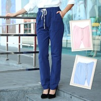 Casual Tie-Up Trousers HROOYQE