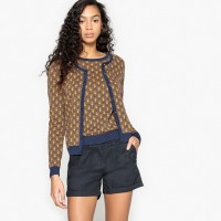 Cotton Jacquard Cardigan NWZXFXY