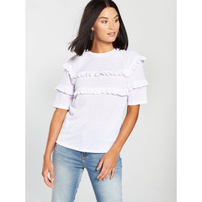 V by VeryRuffle T-Shirt - White Previous NRQLZYY